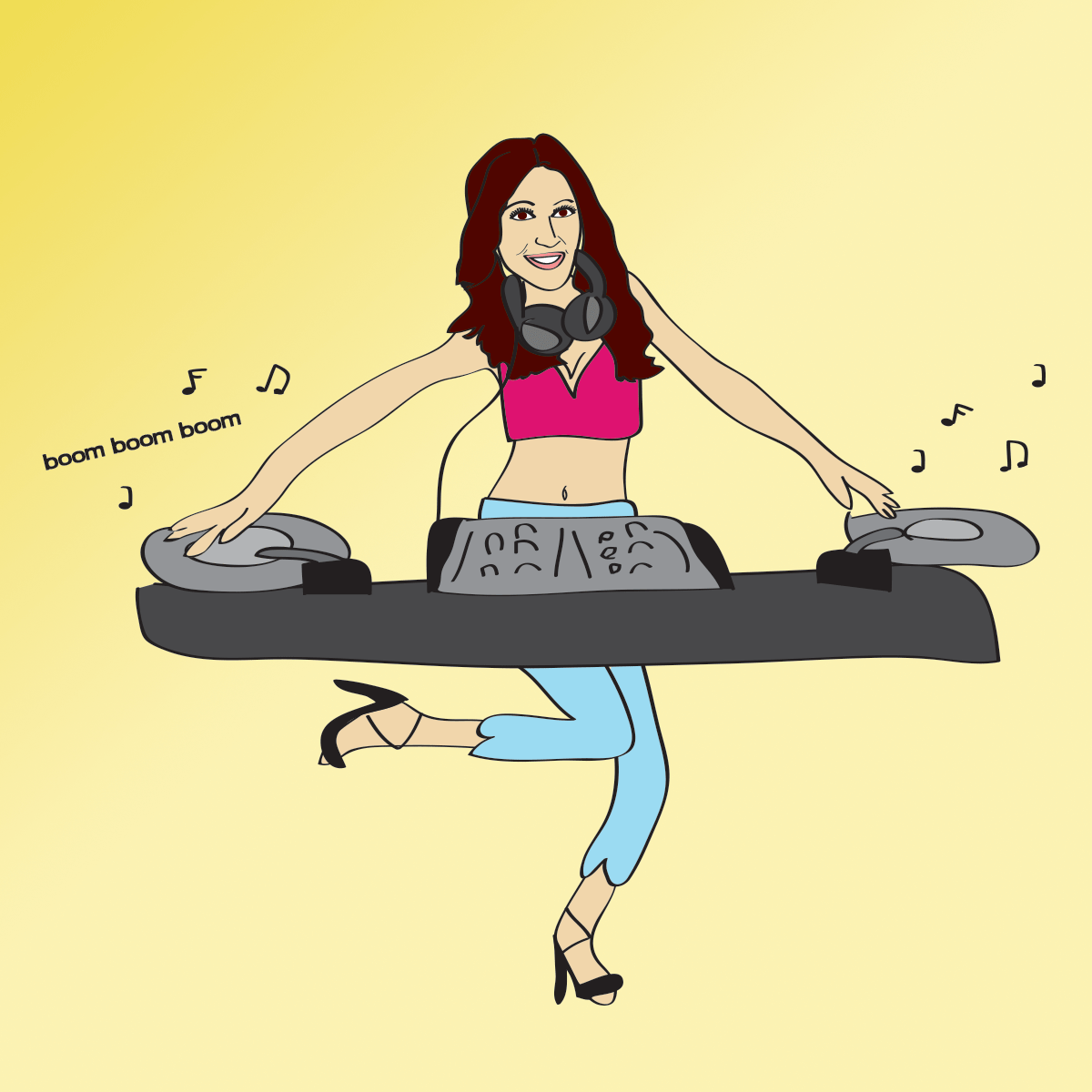 Custom illustration for DJ Rita