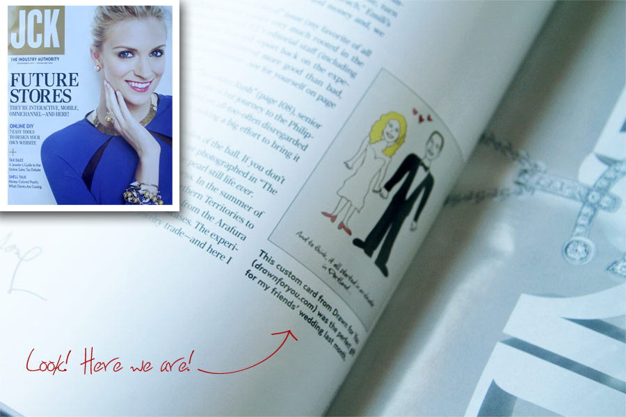 Drawn for You is featured in JCK magazine