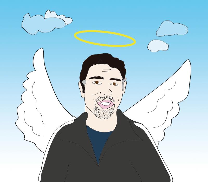 Baba Booey, the angel with big teeth