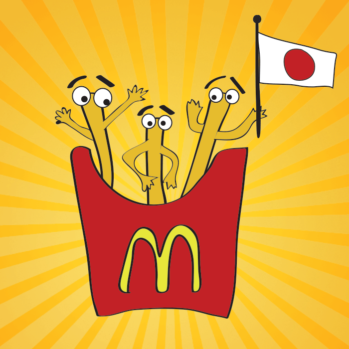 Uh oh! Apparently McDonald's in Japan has a french fry shortage. This is serious, people.