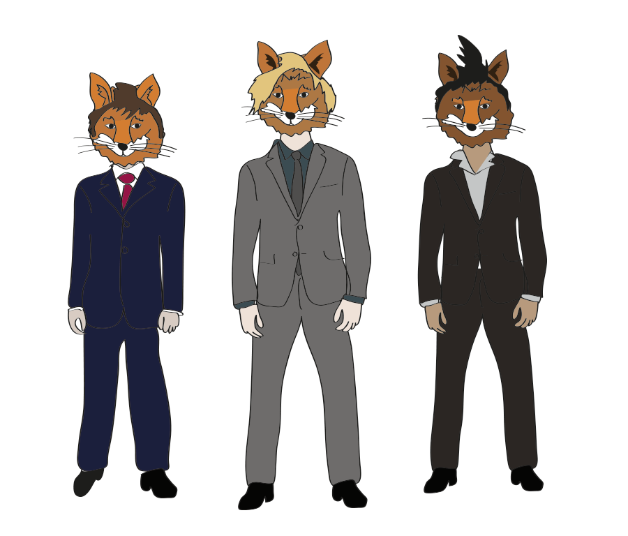 Inspired by dream about Hot Tiger Chicks, I give you some Foxy Gentlemen