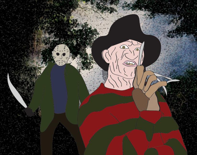 Happy Halloween from the original Killers, Freddy Krueger and Jason Voorhees.