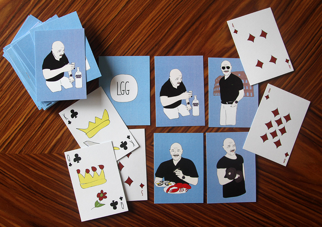 Custom illustrated set of playing cards for my dad for his birthday