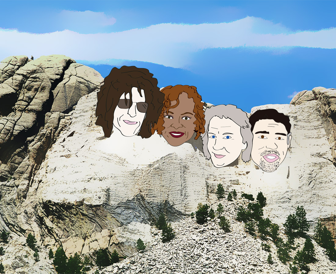 Howard Stern, Robin Quivers, Fred Norris, Gary Dell'Abate