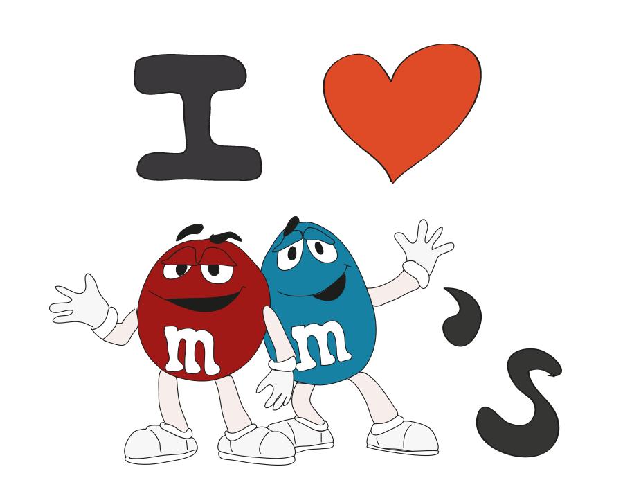 I love m&m's
