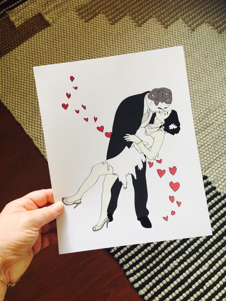 Custom illustration of Eve and Neil