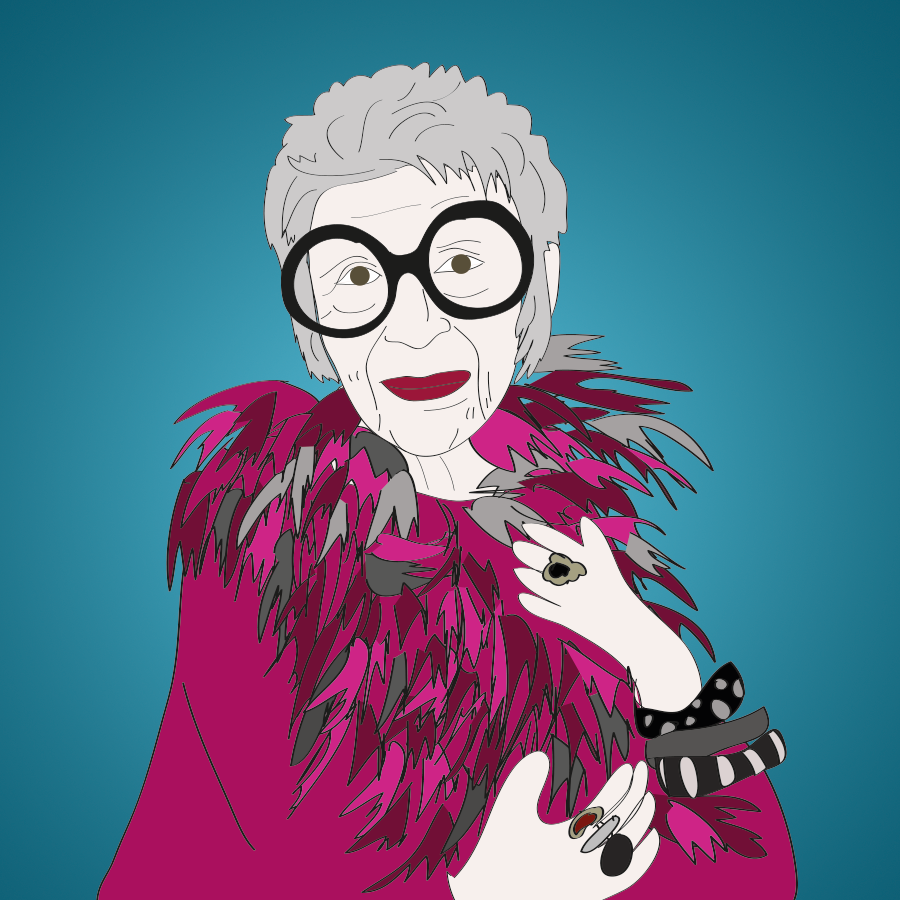 The fabulous style icon, Iris Apfel