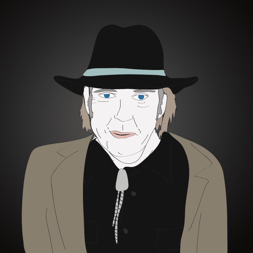 Neil Young illustration, Drawn for You