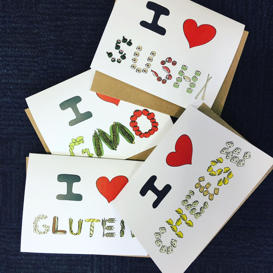 I love GMO, I love cheese, I love sushi, I love gluten