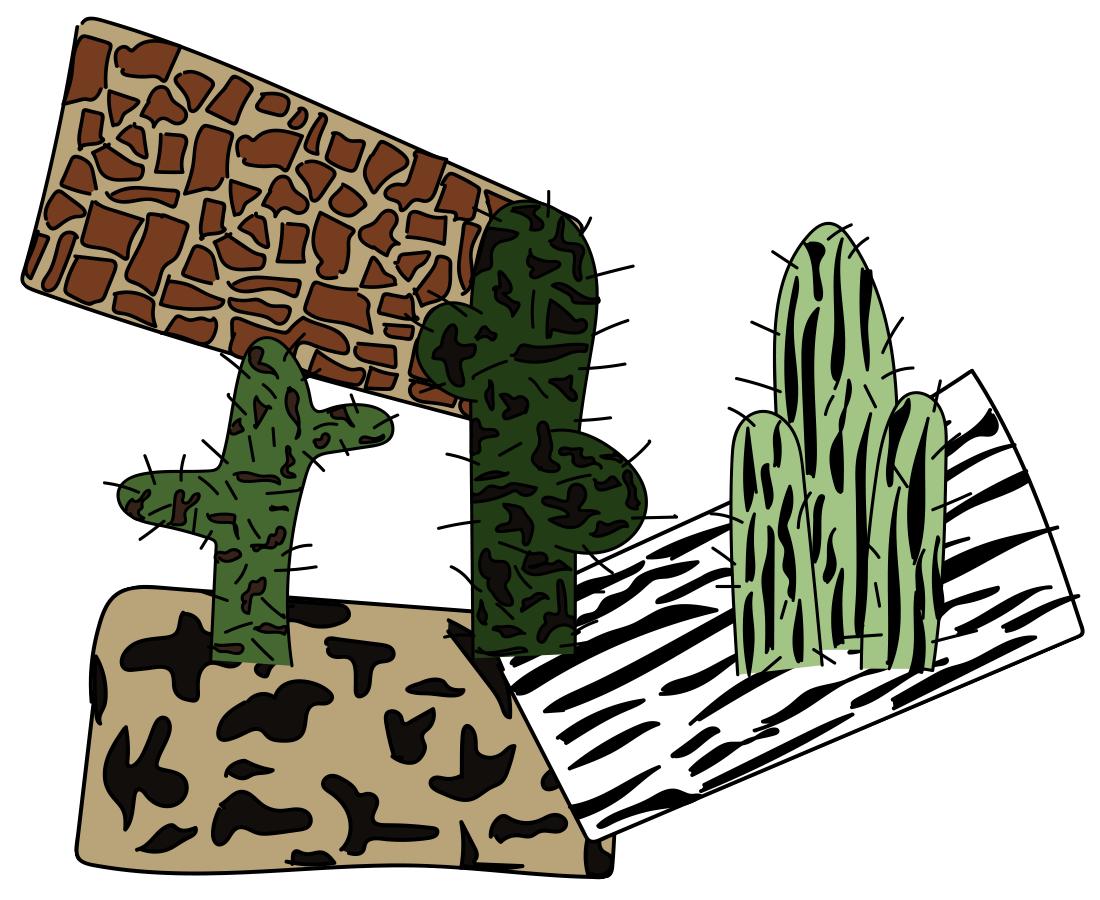 cactus safari illustration