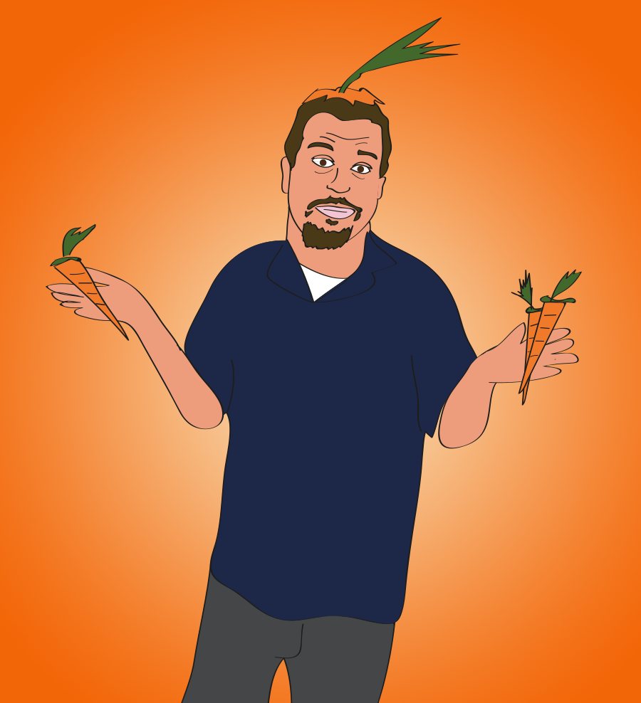 Drawn for You, Sal Governale is a carrot