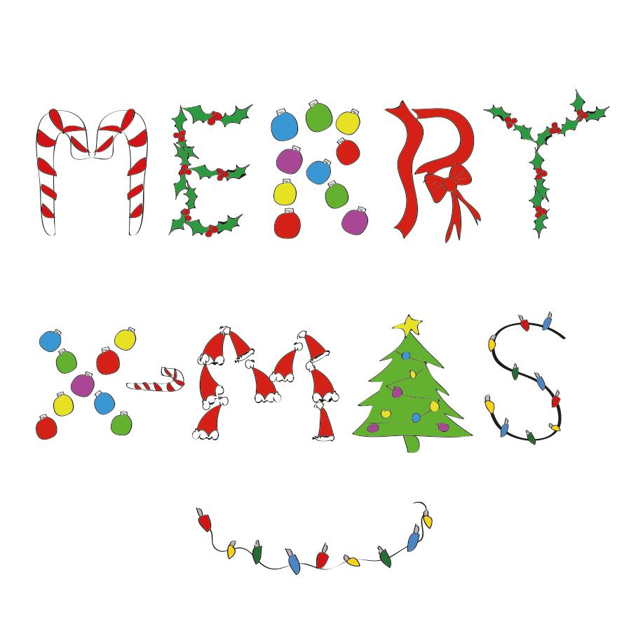 Merry Christmas illustration