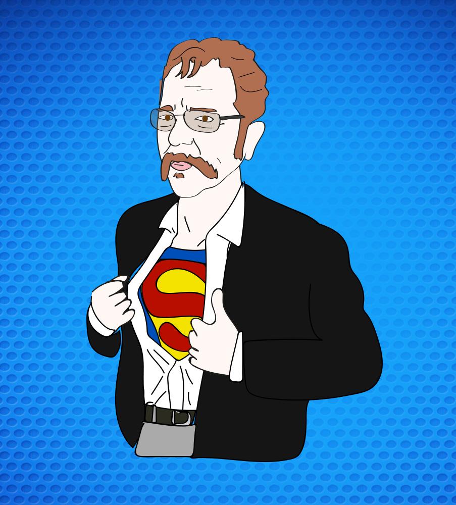 Ronnie Mund in Dean Cain's (aka Superman) body?