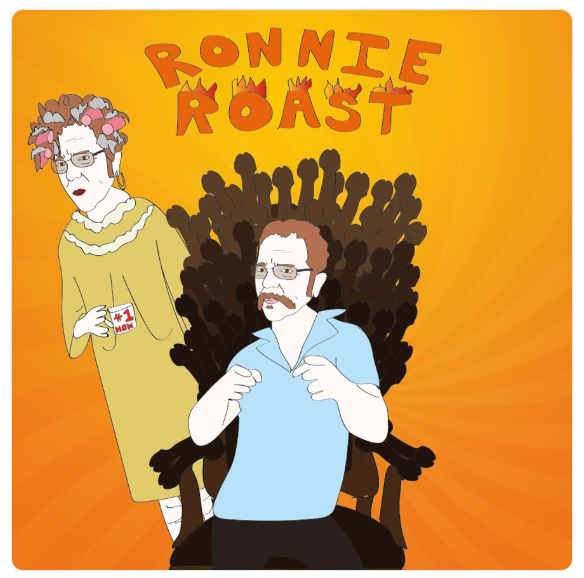 So much talent today on the Stern Show roast of Ronnie but the highlight was an appearance by his delightful mom.  @sternshow   @rmlimodriver69   #ronnieroast   #comedy   #illustration