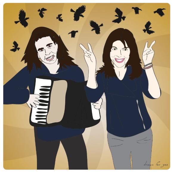 WCW: Mariann and Sour Mariann from Brooklyn. Cackaw!  @MFBrooklyn   @SourShoes   @sternshow   #illustration   #WomanCrushWednesday