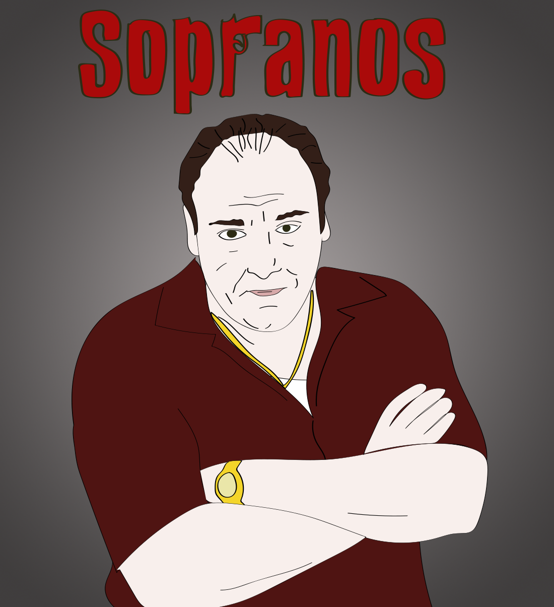 The Sopranos illustration, Drawn for You