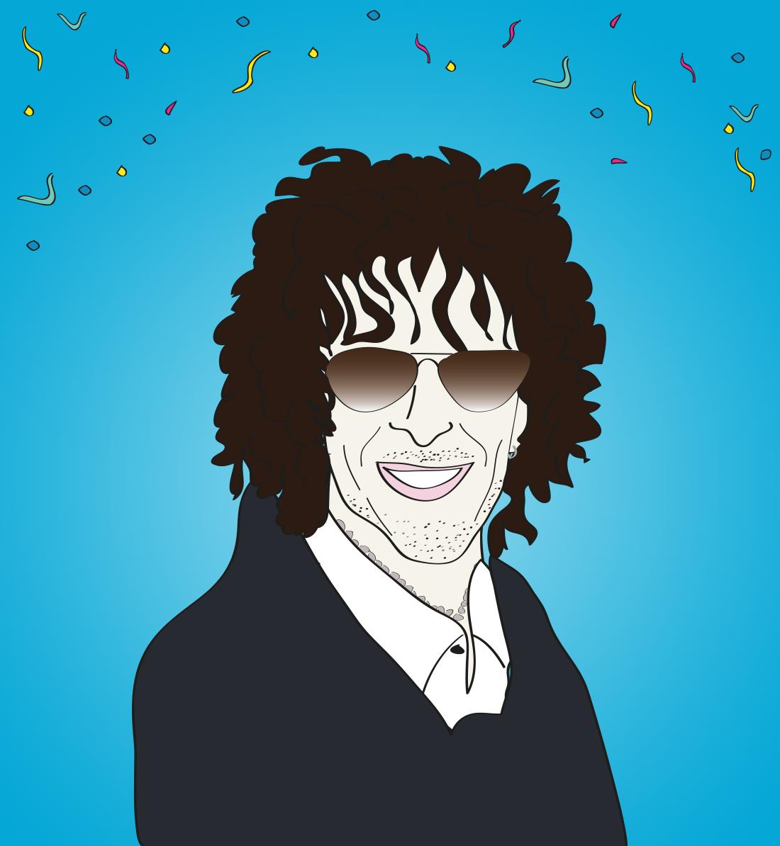 Happy birthday Howard Stern illustration