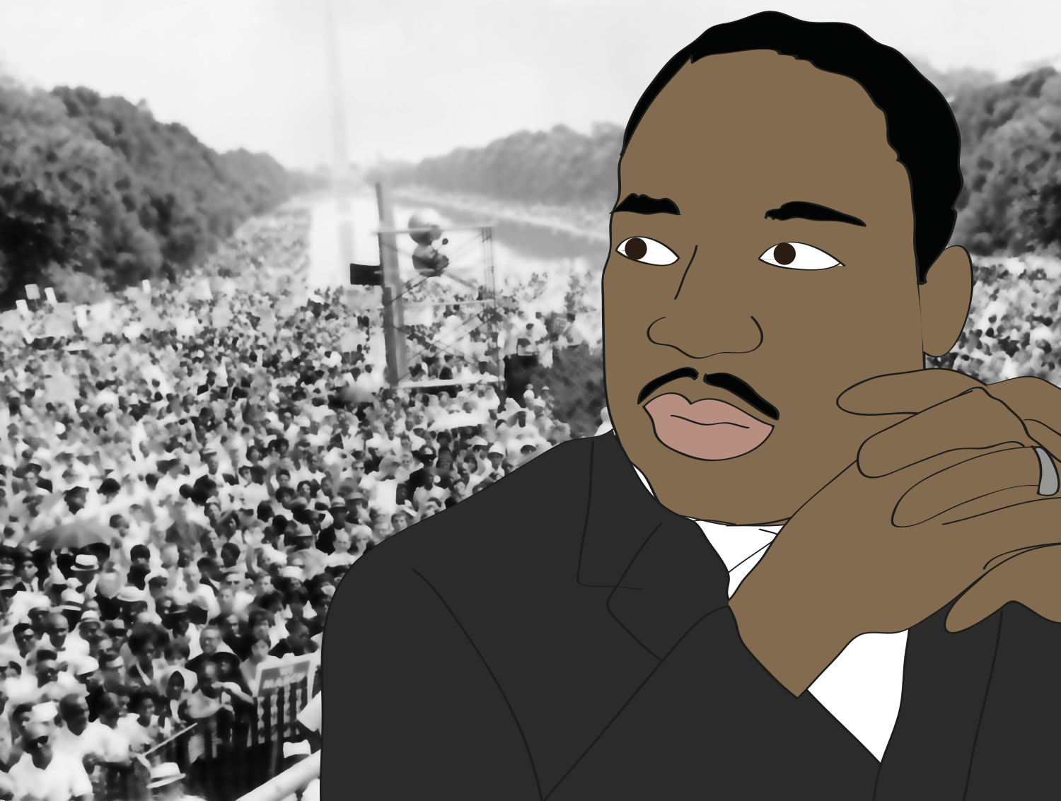 Martin Luther King Jr. illustration, Drawn for You