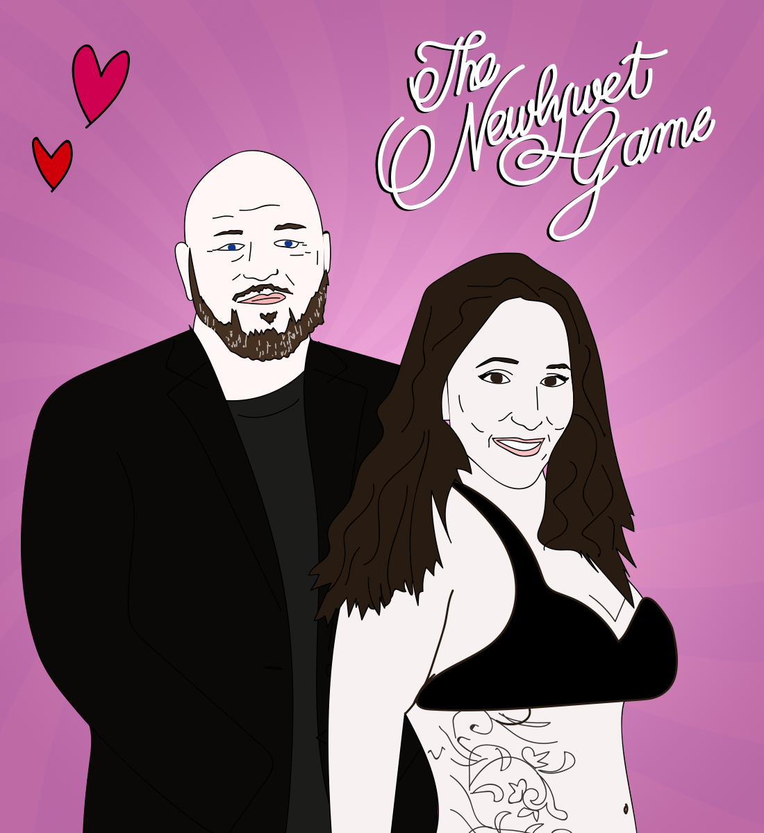 Brent and Katelyn Hatley, Newly Wet Game illustration