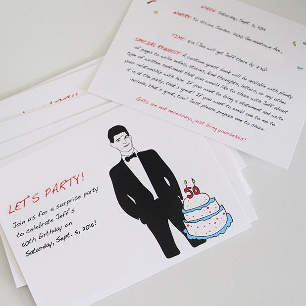 Custom illustrated invitations