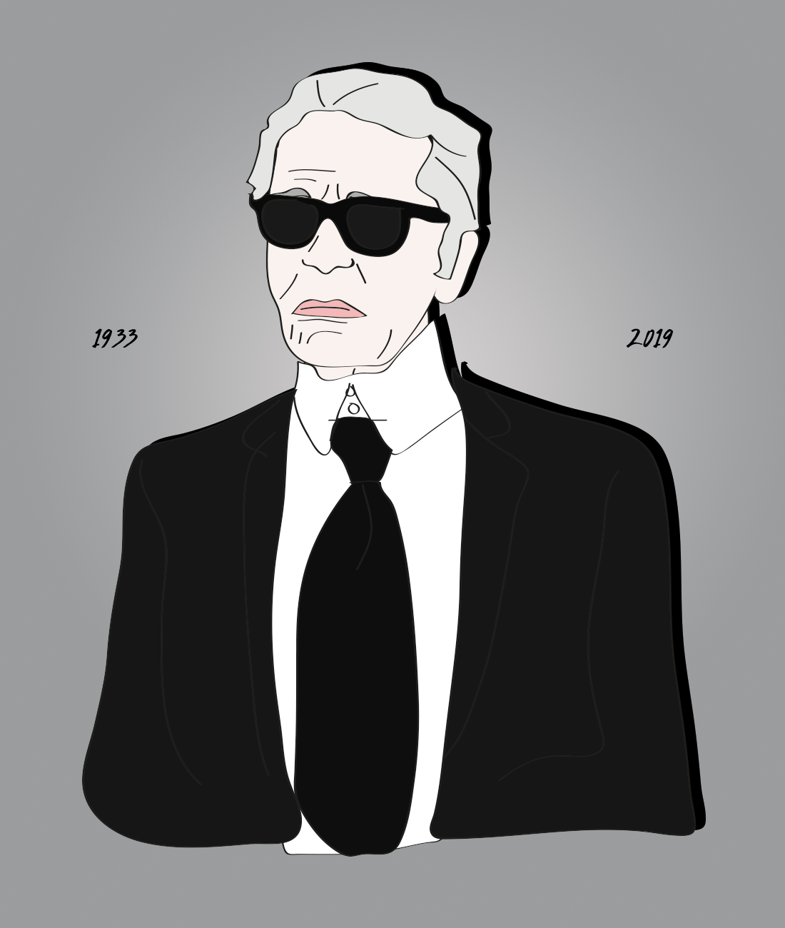 RIP Karl Lagerfeld, illustration