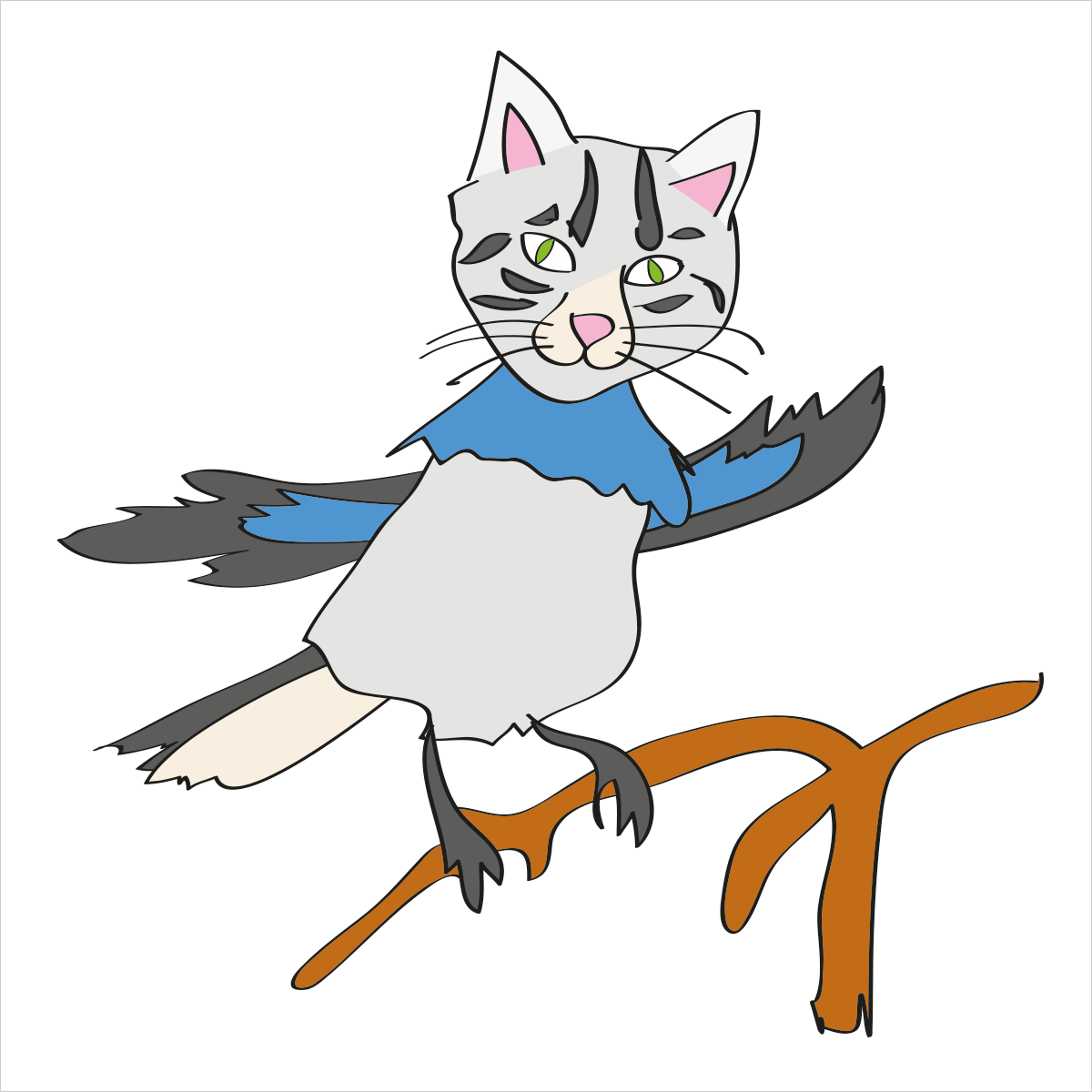 He has a beautiful singing voice and lets you know who's boss. He is CATBIRD