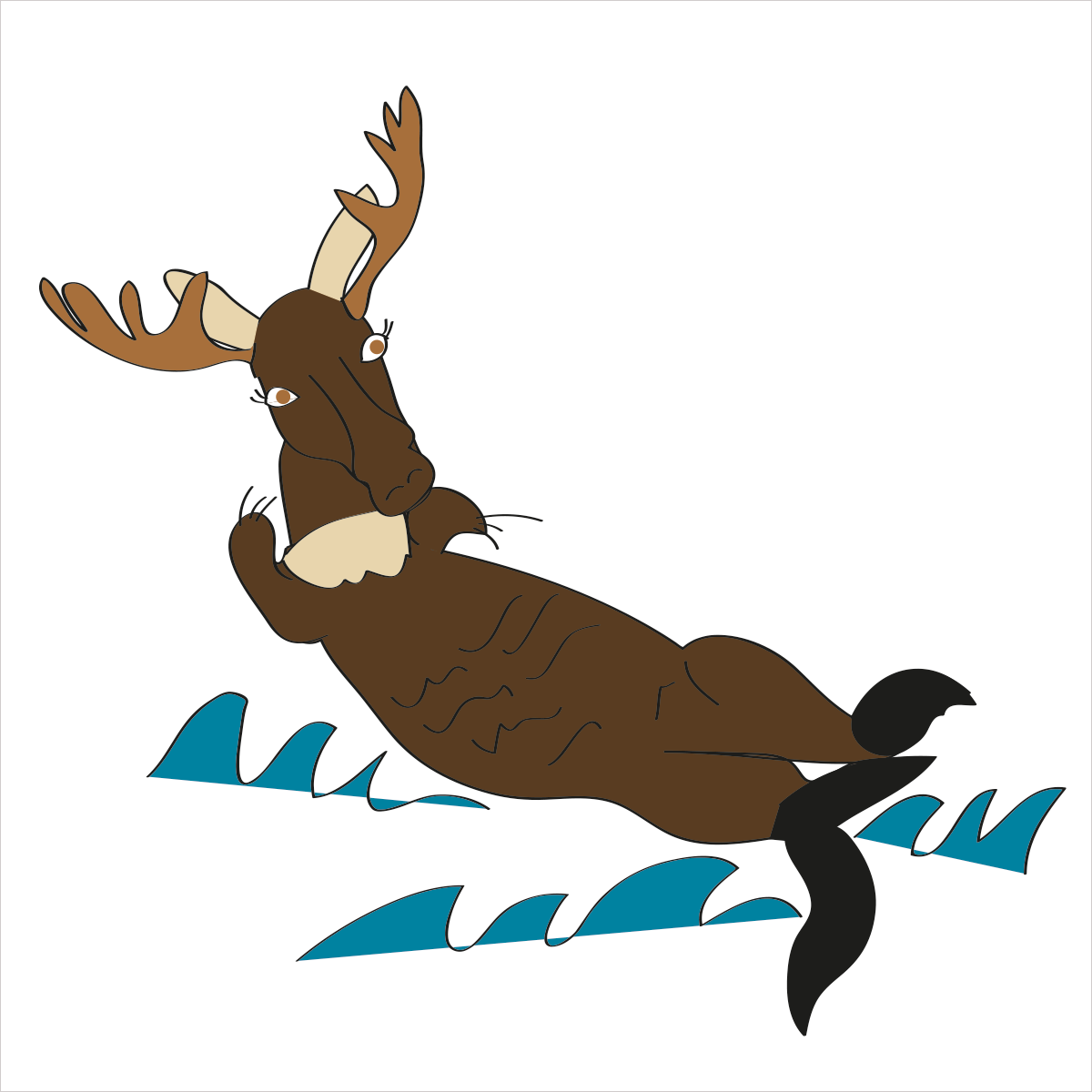 She is slow moving and floats on her back at sea. She is OTTERMOOSE