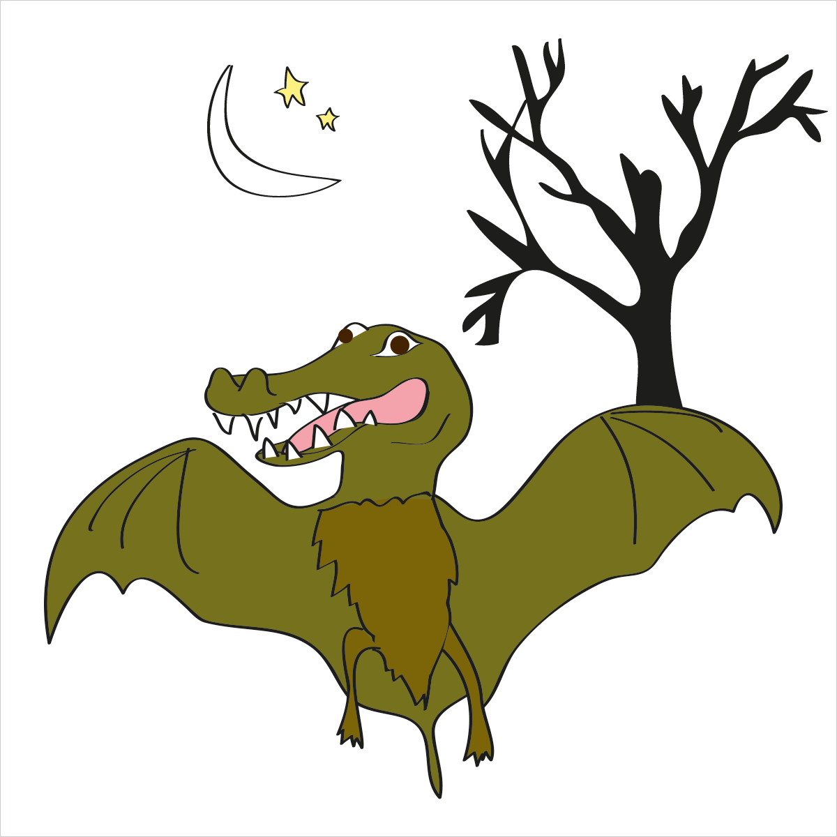 He has razor sharp teeth and sleeps upside down in a swamp. He is GATORBAT