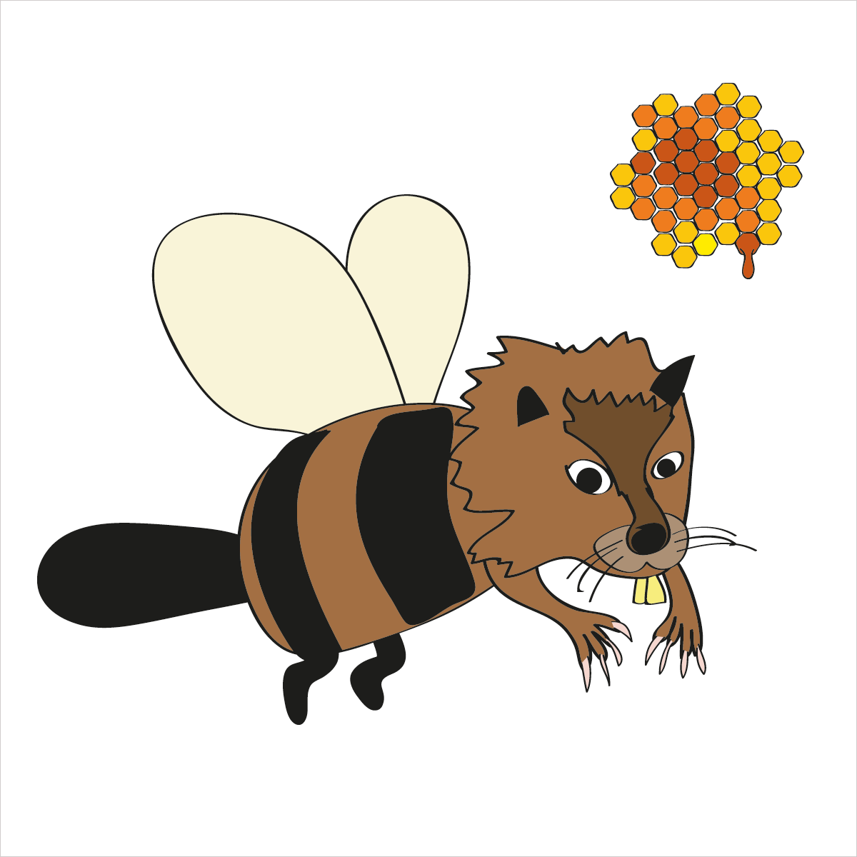 He builds dams and loves the taste of honey. He is BEAVERBEE