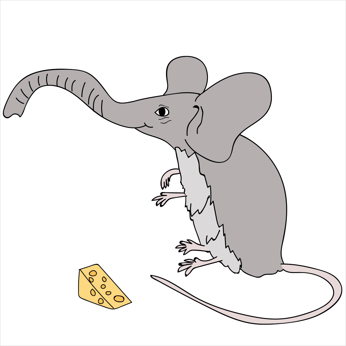She's the largest and most social land animal on Earth with her large, powerful trunk but be mindful, she is timid and feels uncomfortable when exposed. She is ELEPHANTMOUSE.