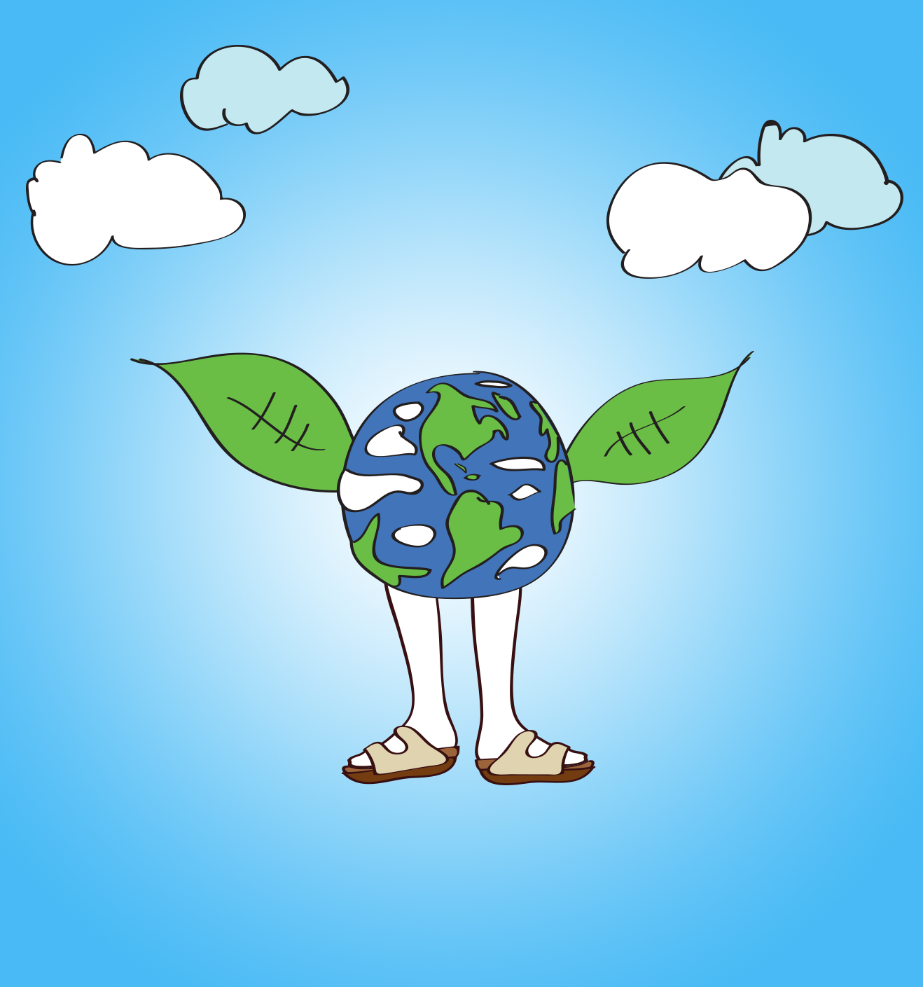 Earth Day illustration, Drawn for You