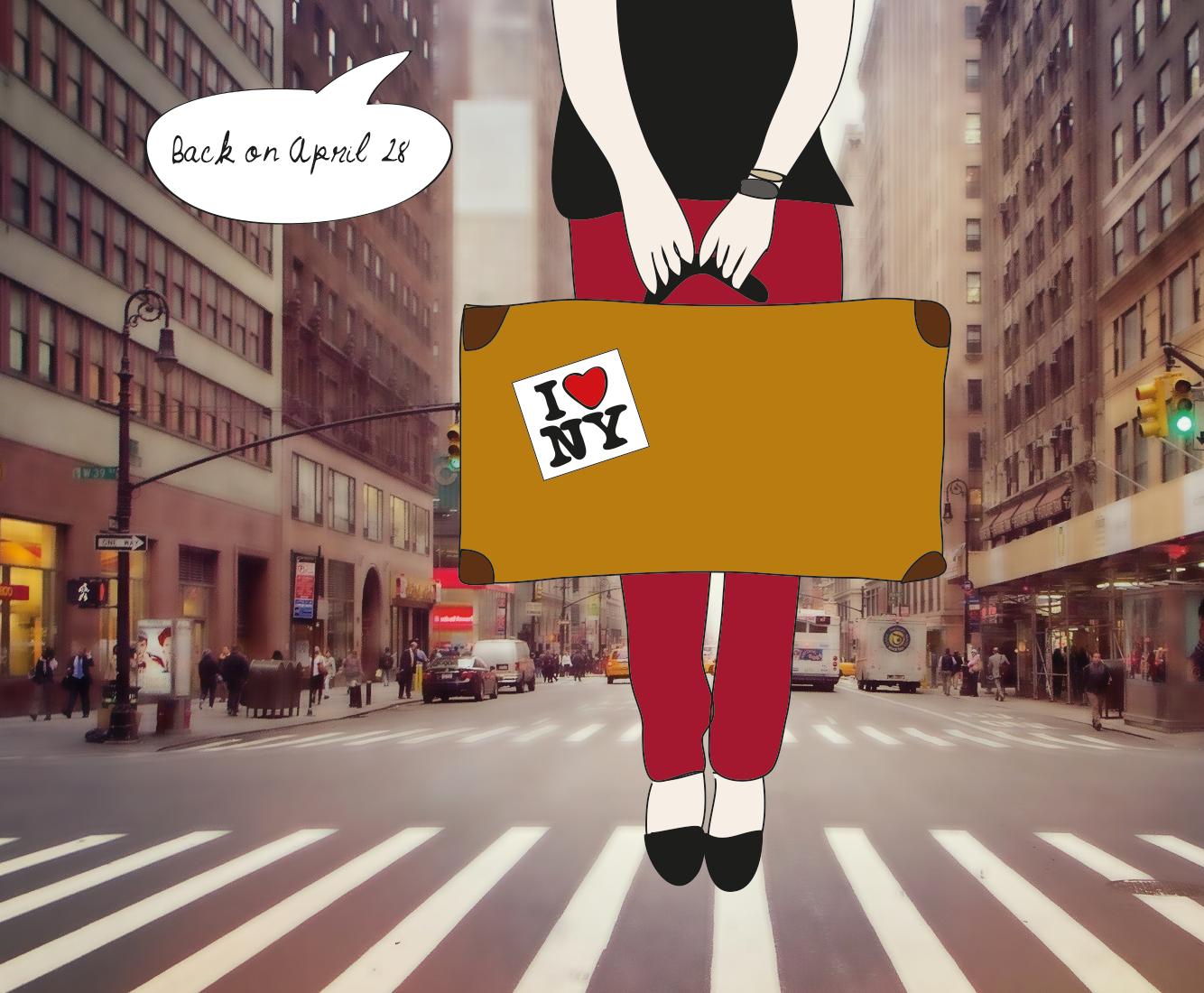Off to New York, illustration