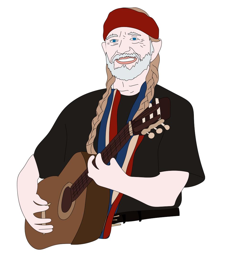Willie Nelson illustration