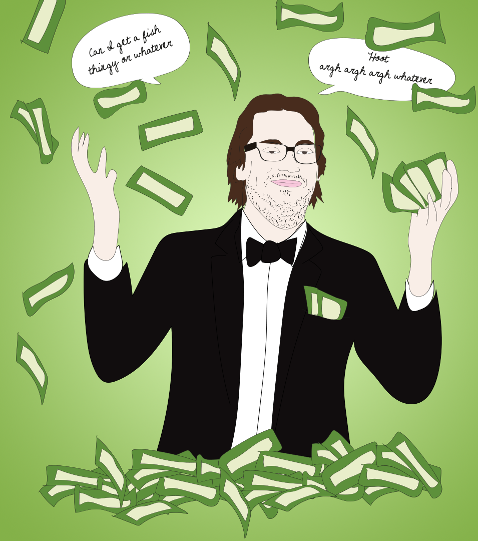 JD Harmeyer is moneybags, illustration