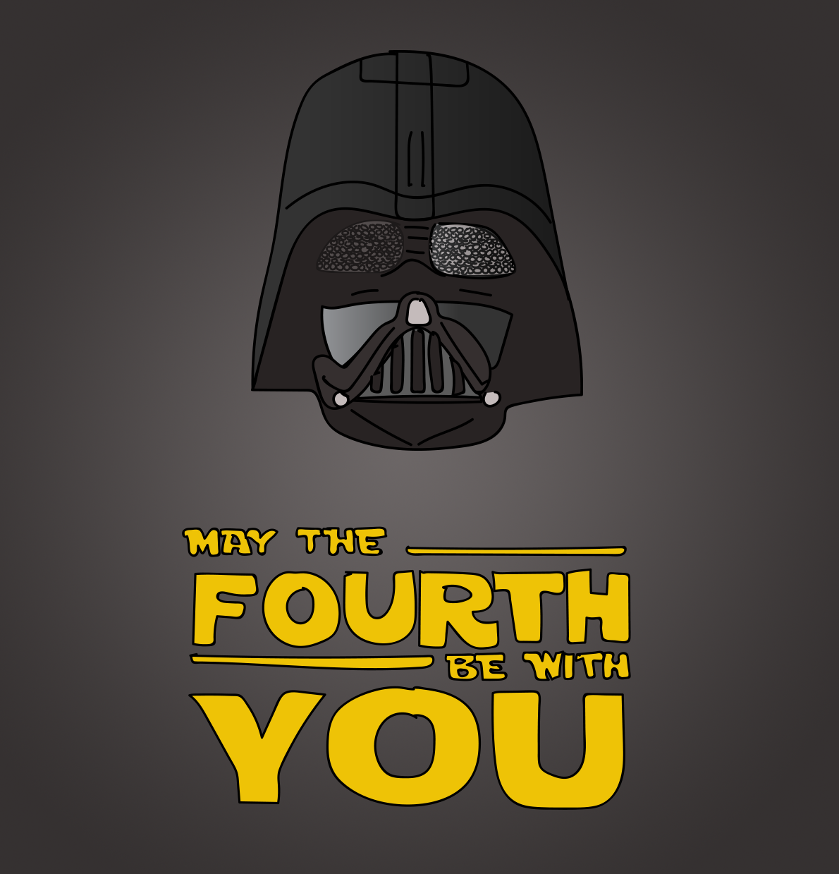 May the Fourth be with you illustration