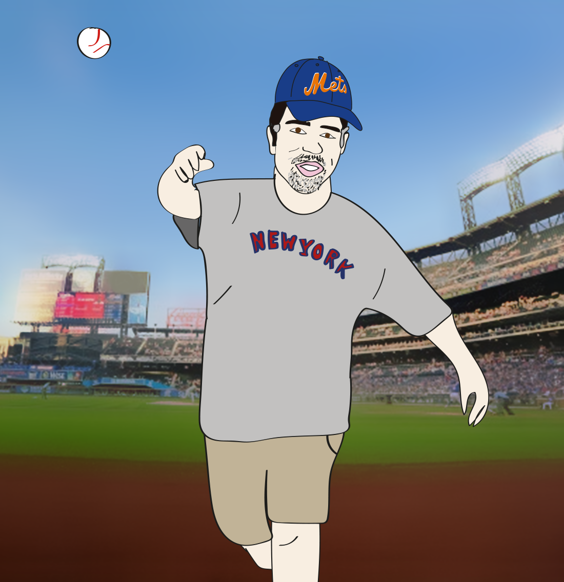 Gary's First Pitch illustration
