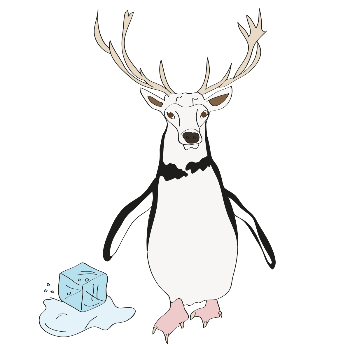 He is gentle with kind eyes that sometimes get caught in the headlights while ice skating in a tuxedo. He is PENGUINDEER
