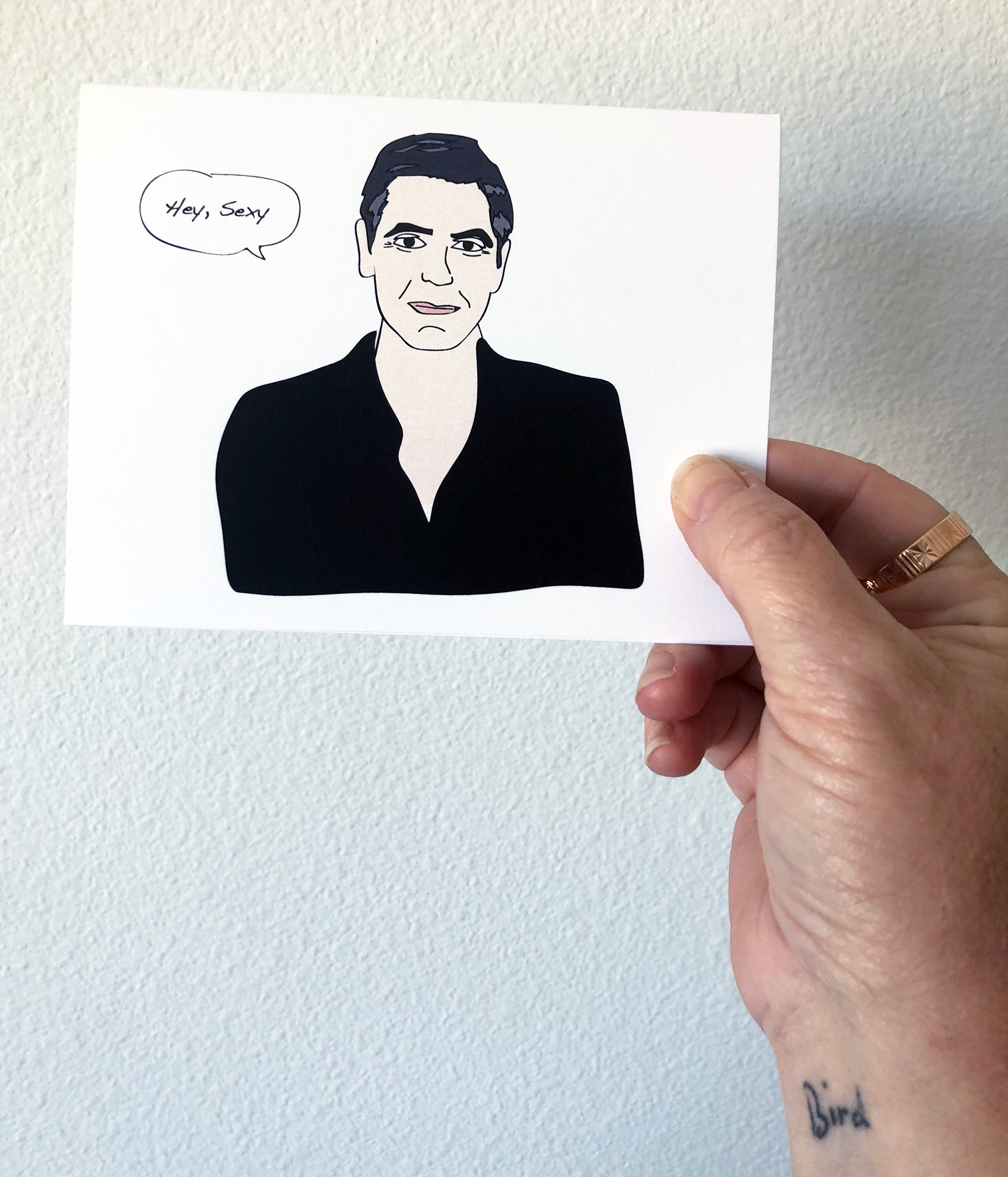"George Clooney ""sexy""  greeting cards"