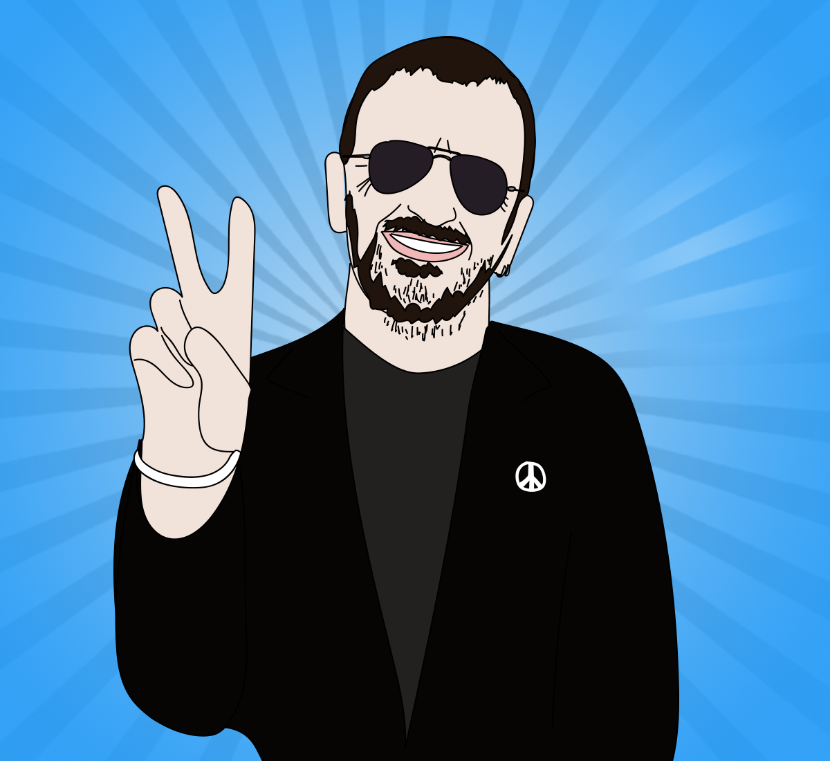 Ringo Starr illustration, Drawn for You