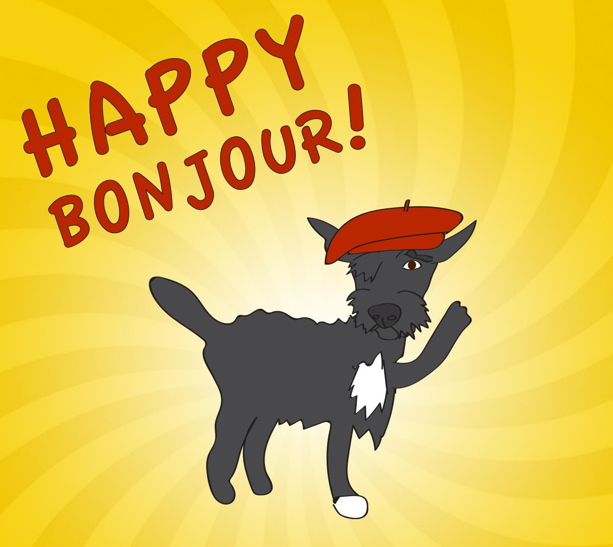Happy Bonjour, illustration