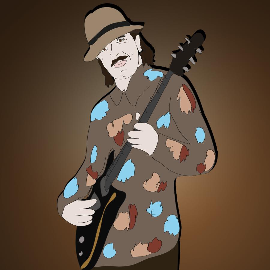 Carlos Santana illustration, Drawn for You