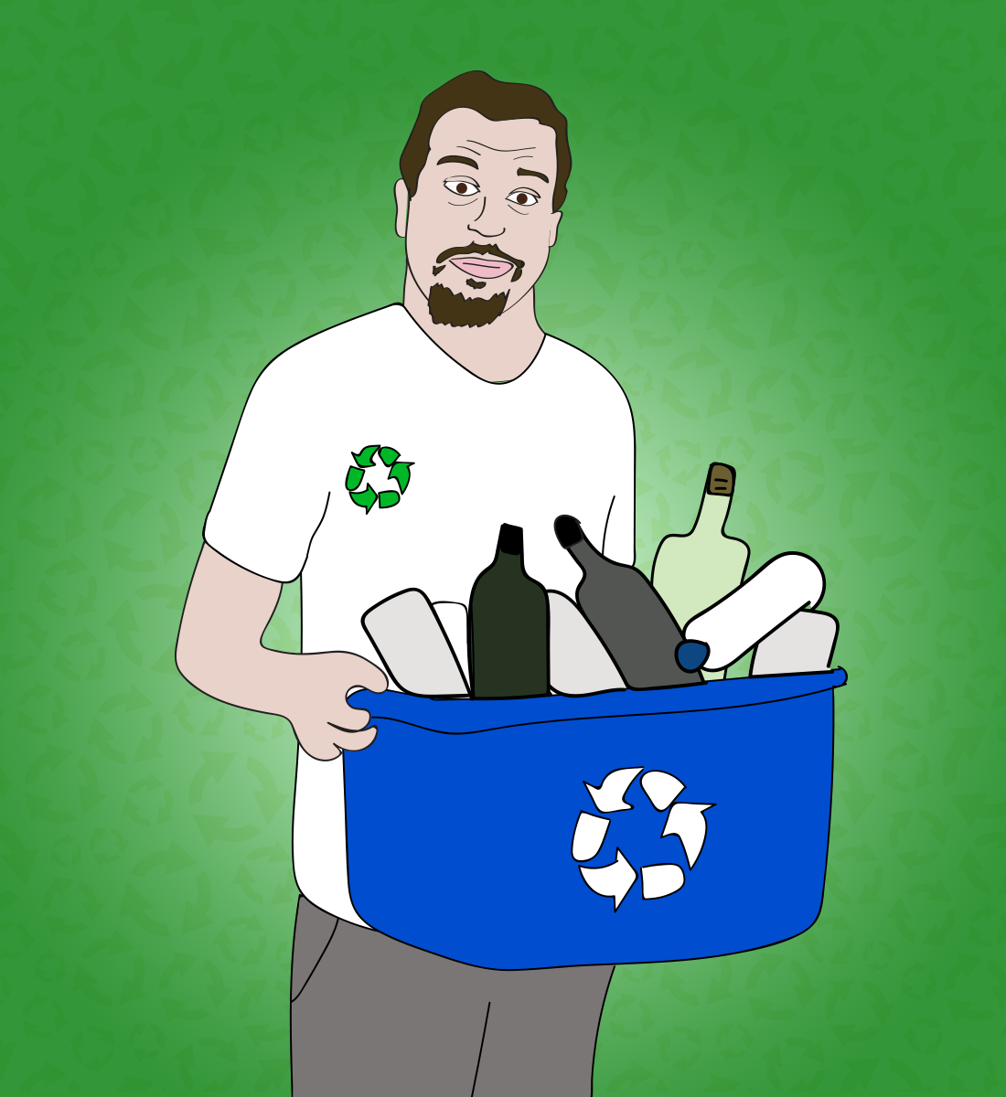 Sal Governale recycles illustration, Drawn for You