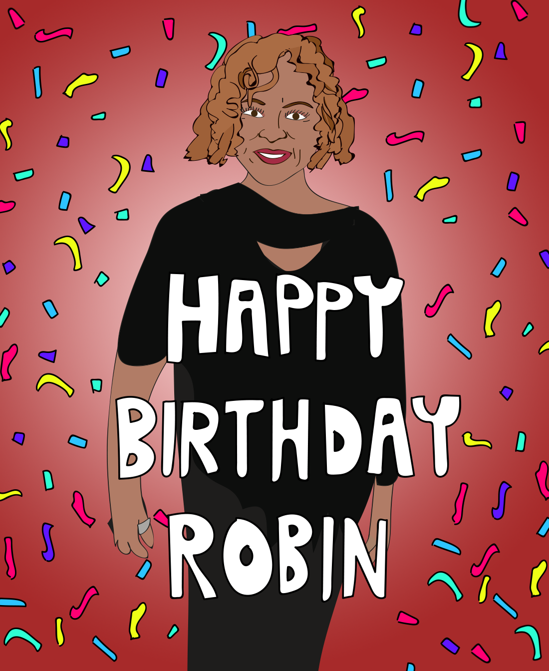 Robin Quivers birthday illustration, Drawn for You