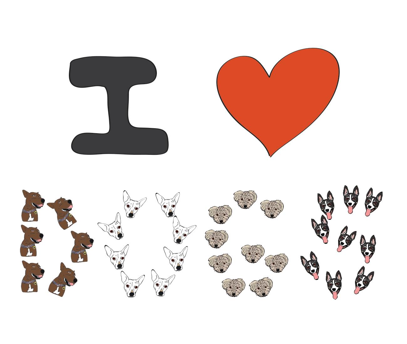 I love dogs illustration