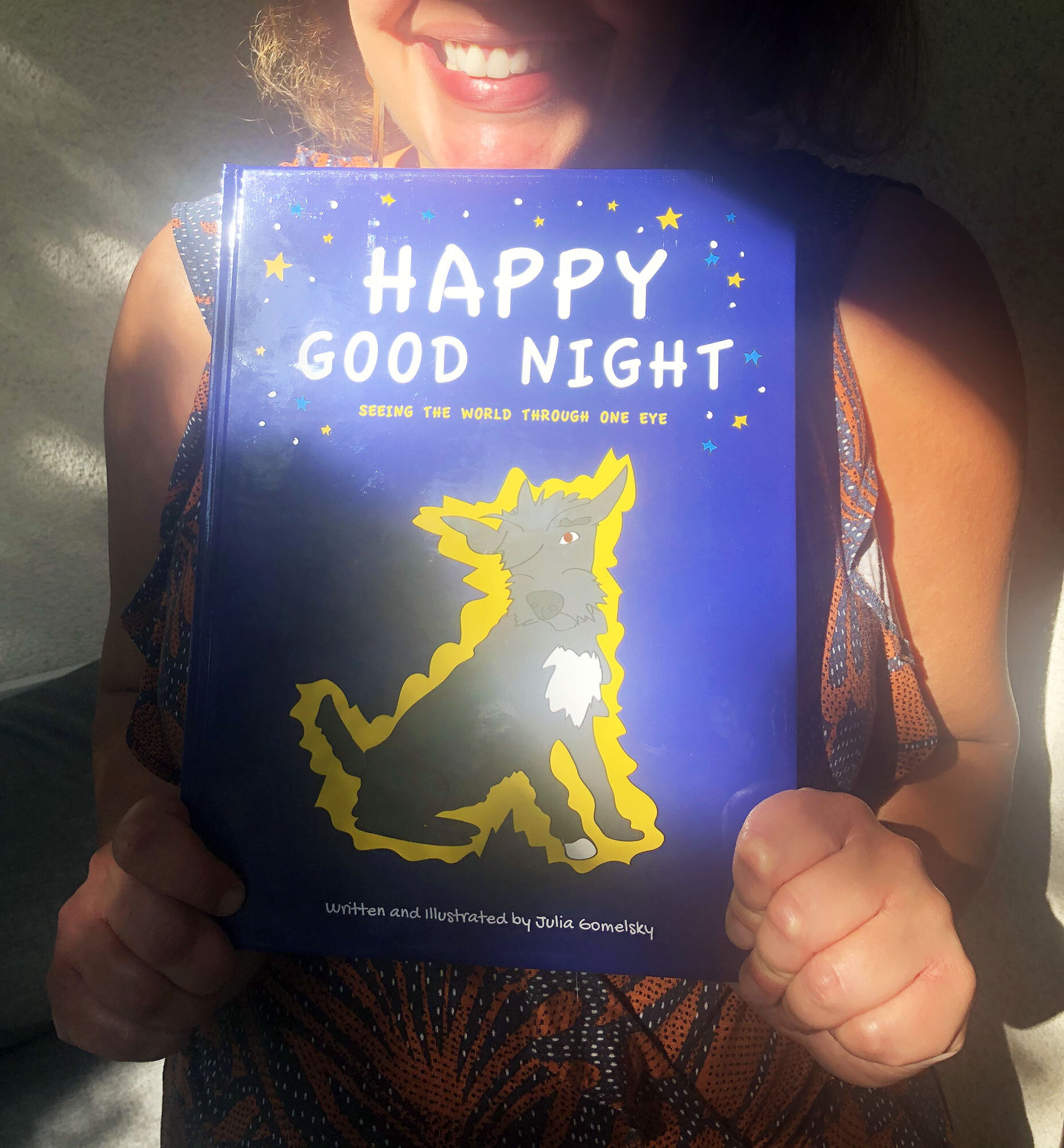 Happy Good Night illustrative book by Julia Gomelsky