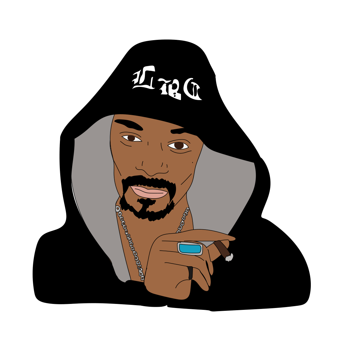 Snoop Dogg illustration, Drawn for You