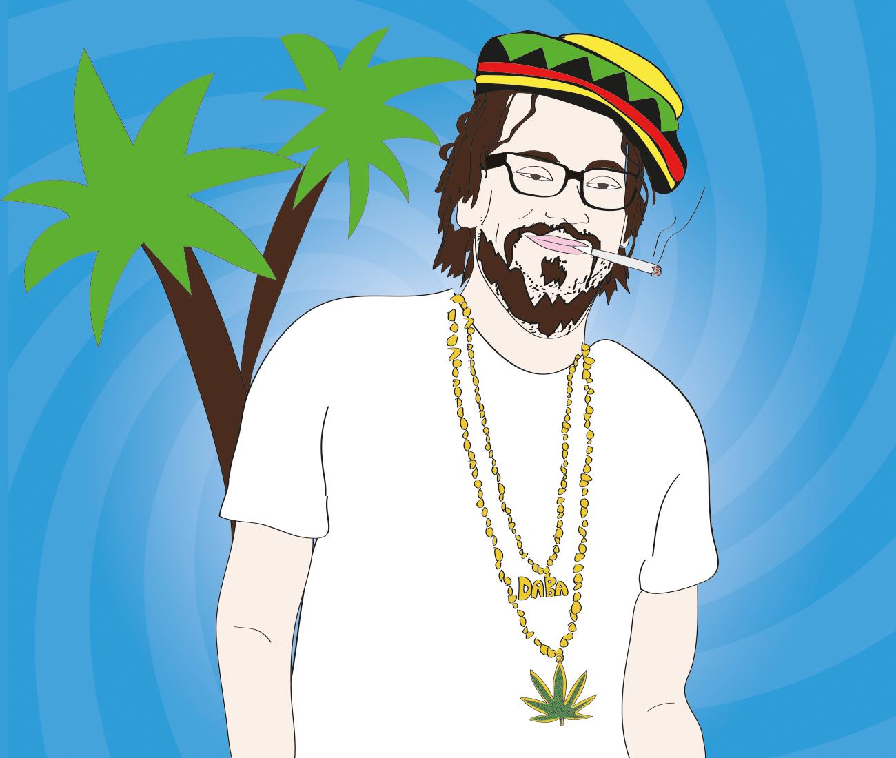 JD Harmeyer smokes weed