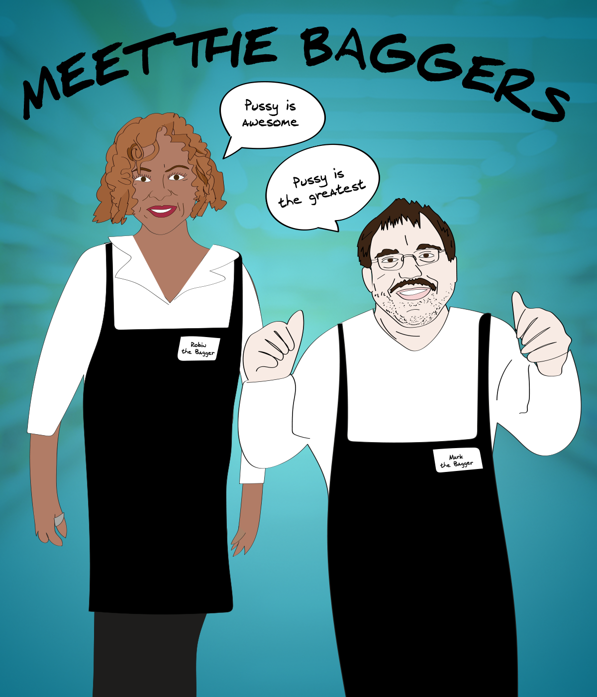 Since Robin lost her voice this week, she sounds a lot like Mark the Bagger!