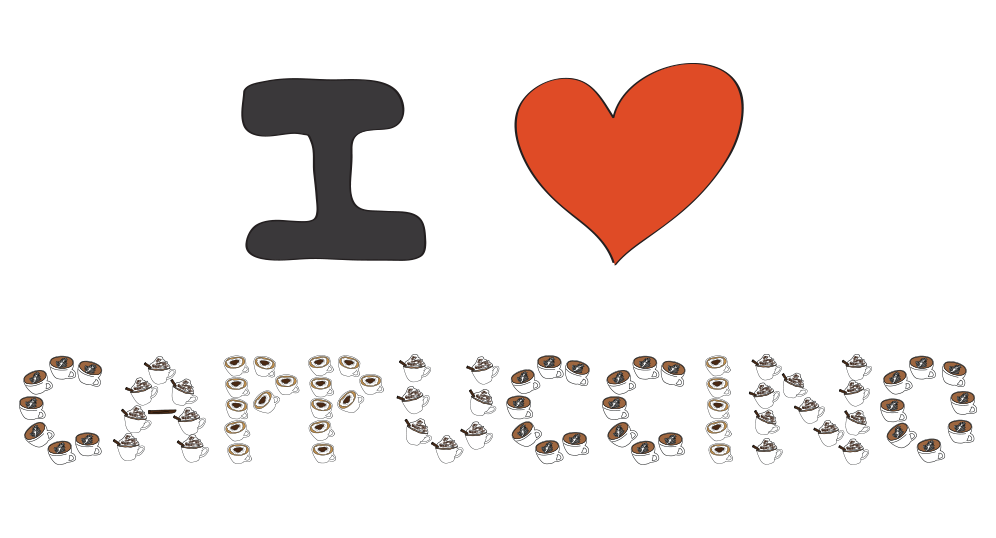 I love cappuccinos illustration