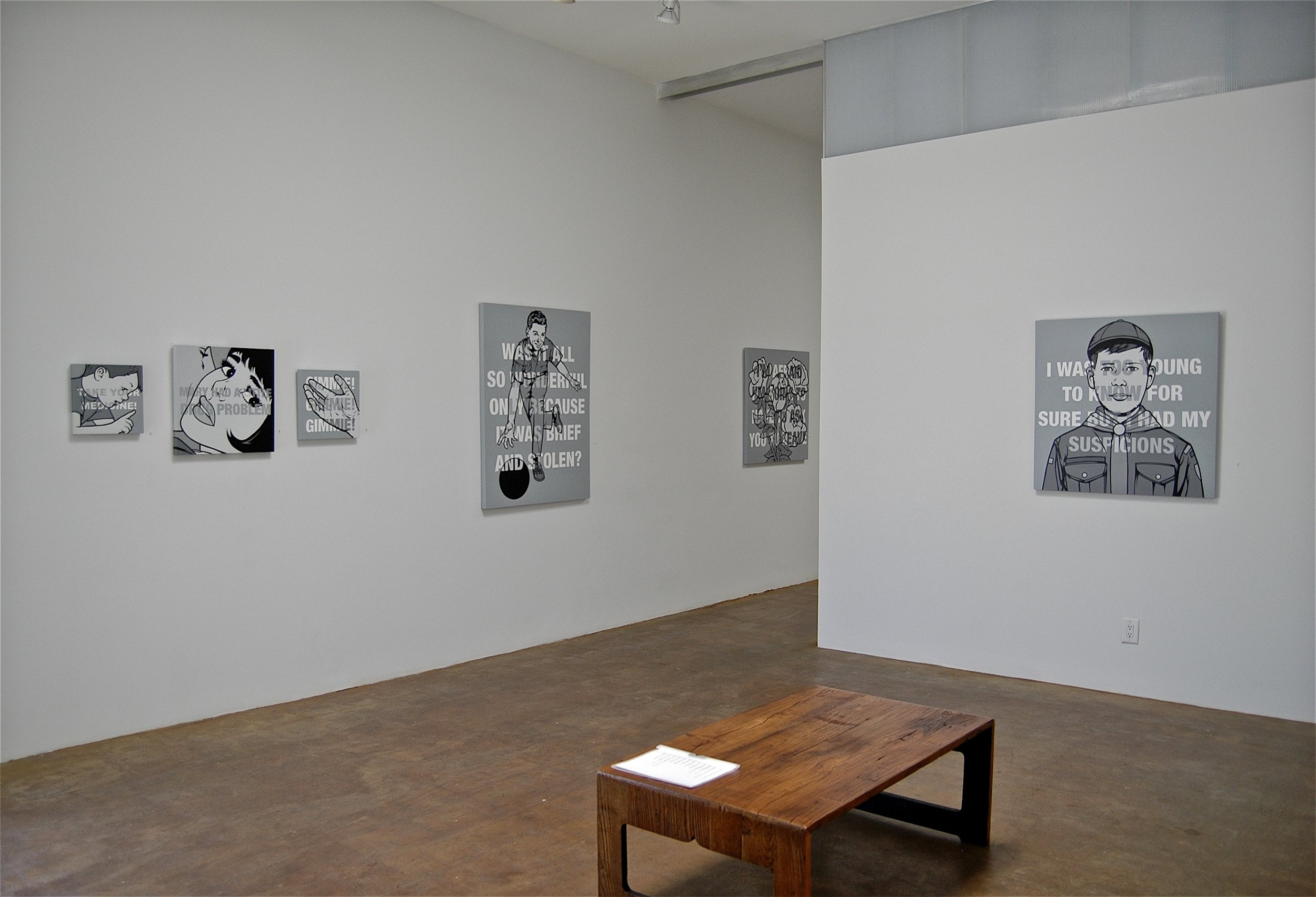 """""""Black & white & read all over"""" show (Milo Gallery, Los Angeles)"""